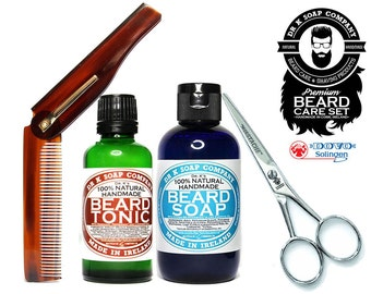 Beard Grooming Kit All Natural PREMIUM Beard Care Set For Men For Him Beard Wash Beard Oil PREMBCS
