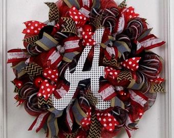 Mesh Wreath Alabama, Alabama Wreath, Alabama Football Wreath, Sports Wreaths, Roll Tide Wreaths, Bama Wreaths, Game Day, College Wreaths