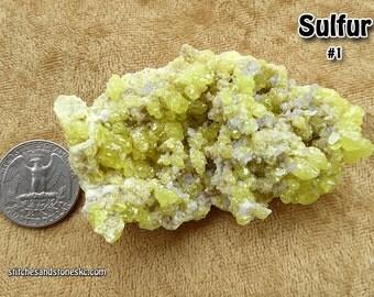 Sulfur Crystal Cluster #1 (Sulphur)
