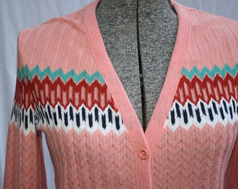1970's Vintage Lightweight Cardigan Size Small