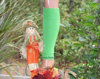 "Child Leg Warmers Lime Green 13"""