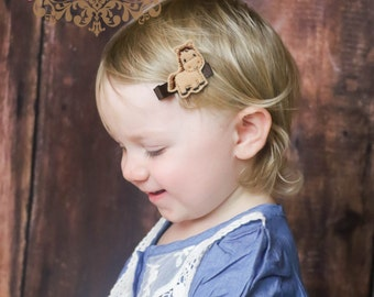 Girls Farm-Hair Accessories -Horse-Felt Hair Clip -Embroidered Boutique Cowgirl Horse- Felt Hair Clippie -No Slip Grip