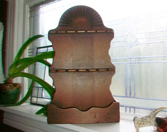 Vintage Wood Spoon Rack 1950s