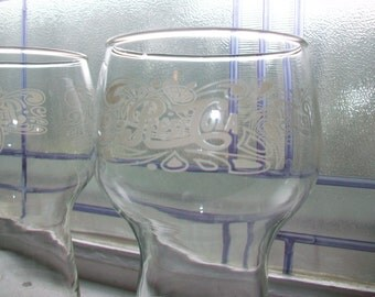 Pair of Vintage Pepsi Cola Glasses 1970s