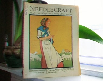 1931 Needlecraft Magazine of Home Arts March Issue Vintage 1930s Sewing