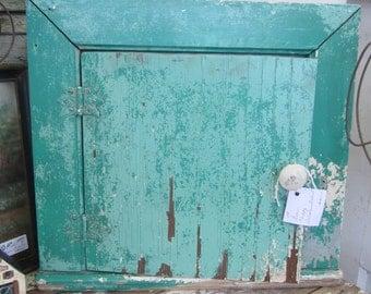 Green Chippy Telephone Cabinet Shabby Chic Farmhouse Prairie Primitive