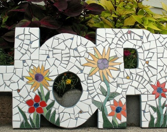 HOPE Mosaic Sign Garden ART Home Decor  Special Order