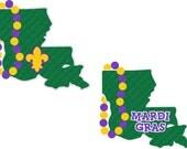 Louisiana Mardi Gras-svg, eps, ai, dfx Formats for heat transfer vinyl, vinyl, scrapbooking, cutting file,