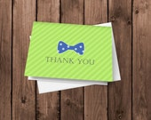25 Bow Tie Thank You Cards