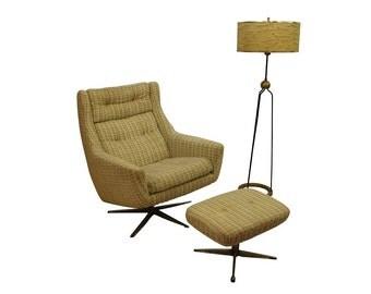 Mid Century ModernJohn Stuart loung chair and ottoman
