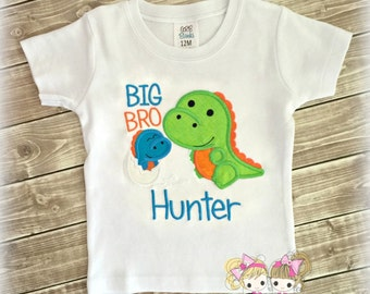 Big Brother dinosaur shirt - big brother to be shirt - sibling shirts - dino big brother shirt - personalized big brother shirt