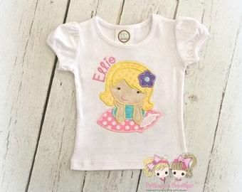 Slumber party themed shirt - girls slumber party shirt - sleepover themed shirt - girls pajama party shirt - embroidered slumber party shirt