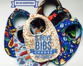 Baby Bibs Pick 6 Boys cotton prints and the backing material. Triple Layer Best Bibs Keeps baby's shirt dry