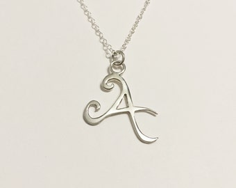 925 Sterling Silver Letter Necklace, A - Z, Alphabet Necklace, Personalised Letter Necklace, Great Valentine's Day Gift
