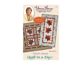 Table Runner Pattern, Autumn Leaves, By Eleanor Burns, Signature Pattern, Quilt in a Day