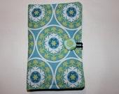 Kindle Fire HD 6 - Kindle Fire Case, Nexus 7 Google, Amazon Kindle Cover, Kobo Aura H2O -  Blue, Lime Geen Circle Print