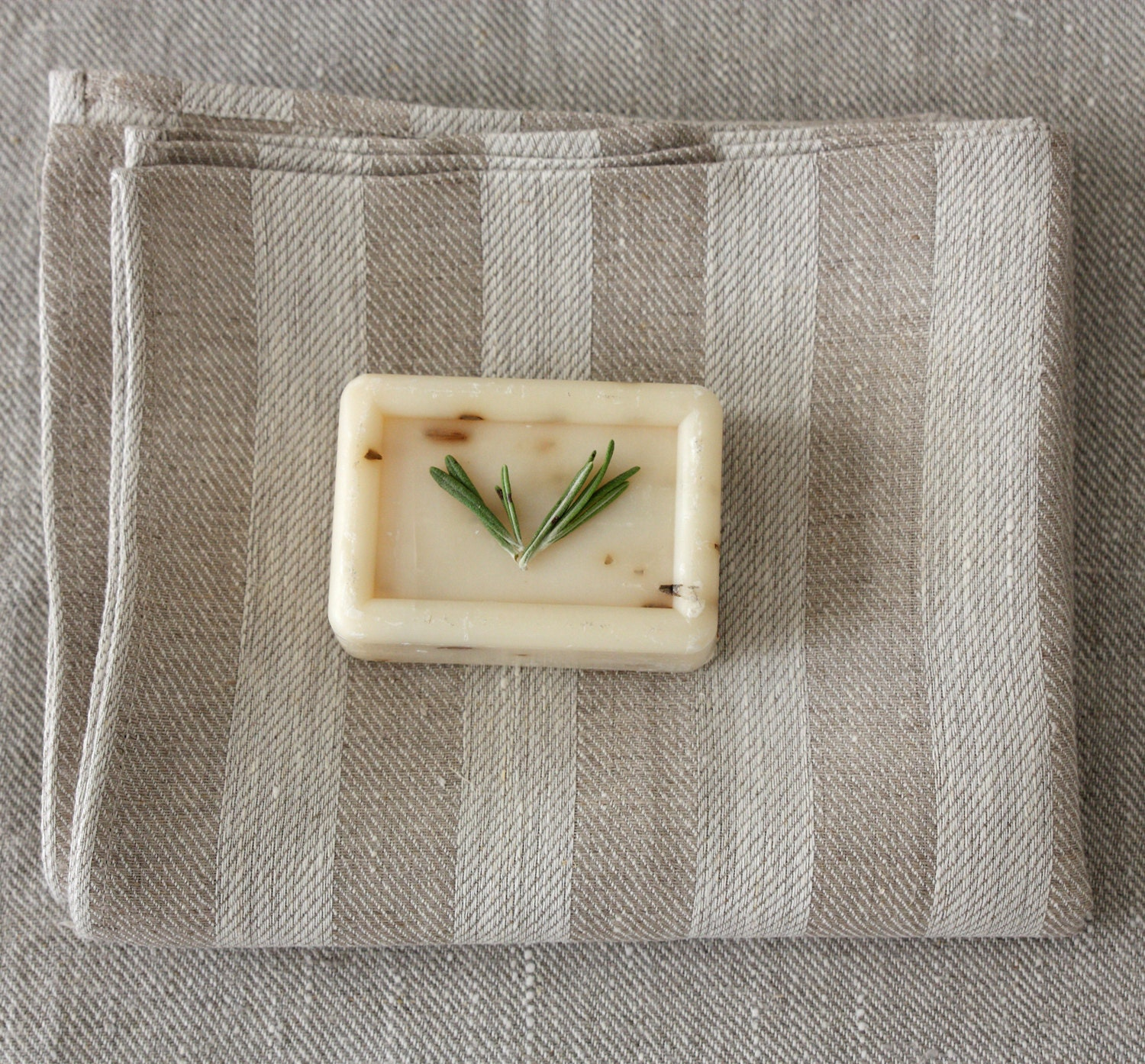 Grey And Beige Bathroom: Linen Bath Towel 28x47 Natural Grey Beige Striped By