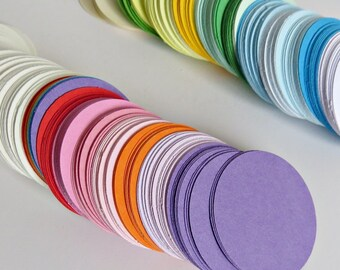 350 pieces Cardstock Circles - Embellishments - Multi Colored Card Circles - Rainbow Colors - Hand Punched Circles