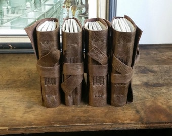 One Leather Journal, Pocket-Size, Dark Brown 3 x 4.5 Journals by The Orange Windmill 1651