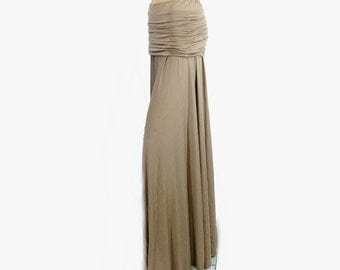 Maxi Skirt-Ruched Hip-Gathered-Womens Long Skirt-Choice of Hand Dyed Organic Cotton/Bamboo Jersey-Made to Order-XXS to Large