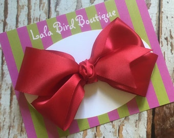 Large Boutique Style Hairbow - Red