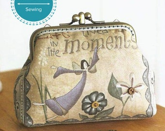 double compartment credit card holder wallet, purse sewing pattern, pdf coin purse with frame tutorial