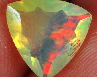 Beautiful Natural Ethiopian Faceted cut Welo Opal 0.6CT 7x7x3mm