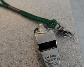 B471)  Vintage The Acme Thunderer Whistle made in England