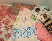 Reserved Listing for Ponytailkate***Lot of Vintage Fabric (Scraps and Linens etc.)