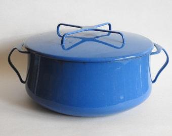 Large Blue Dansk Enamel Pot
