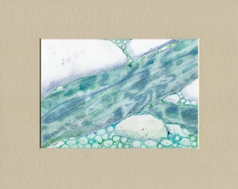 Painting-mixed media-Wtercolor-Water Art-Original by Diann