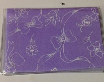 Purple Ribbon Handmade Debit Card Holder, Mother's day gift, Birthday gift, Mini Wallet, Credit card case, Business card holder