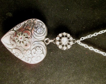 Large Puffy Heart Necklace