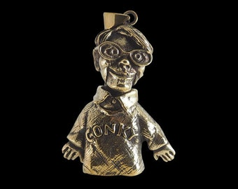 Solid Bronze Conky Pendant  Trailer Park boys Character Sold with a Free Chain - Free Shipping