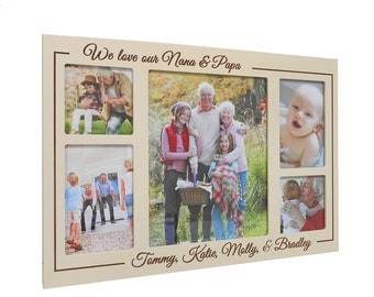 Personalized Grandparents Collage Picture Frame: Personalized Grandparents Gifts, Unique Grandparents Gift, Gift from Grandchildren