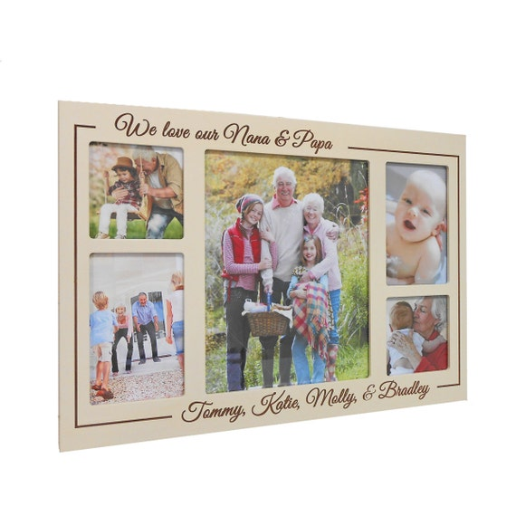 Personalized Grandparents Collage Picture Frame Personalized