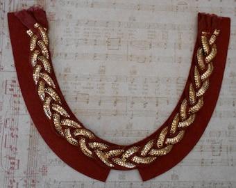Gold Chain Braided Appliques