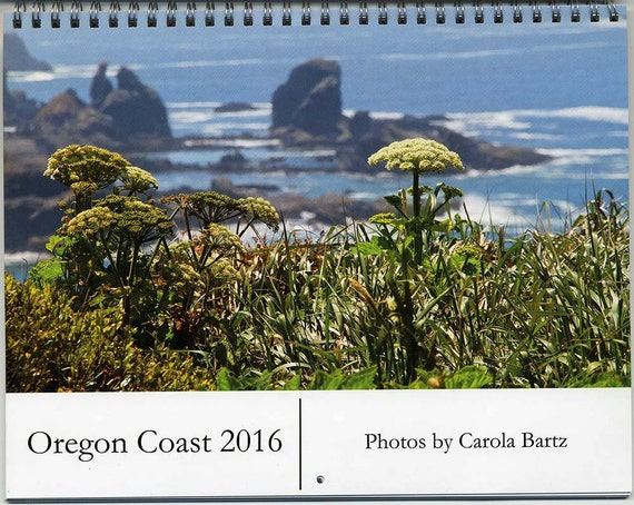 2016 Photo Wall Calendar Oregon Coast, Fine Art Photography, 2016 planner, 12-month calendar, Inspirational Images of the West Coast, 8.5x11