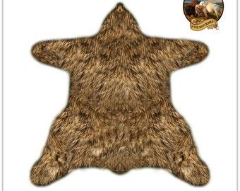 faux bear skin rug | etsy