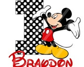 Disney Inspired Mickey Birthday Boy Digital Download for iron-ons, heat transfer, T-Shirt, Totes, Bags,Scrapbooking,  YOU PRINT