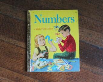Vintage Children's Book - Numbers - 1955 (A Little Golden Book)