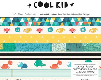 Crate Paper Cool Kid 6x6 Paper Pad  -- MSRP 6.00