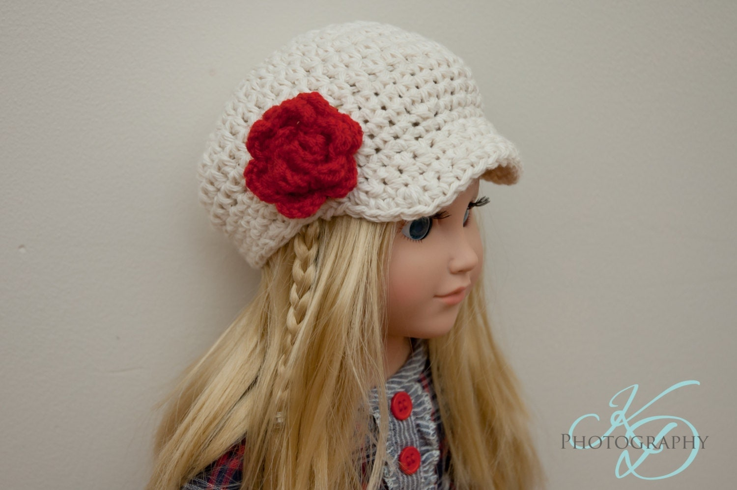 Crochet Hat Pattern American Girl Doll : The Chloe Hat Crochet Pattern American Girl Doll by jkdepriest