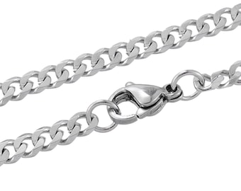 "Stainless Steel Necklace - Curb Chain - 20"" - Ships IMMEDIATELY from California - CH497"