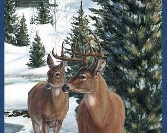 Wilmington - Winter Stillness Flannel - Craft Panel Multi