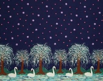 Michael Miller - Swan Lake - Double Border Print