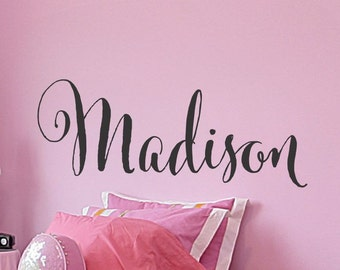 Girls Name Wall Sticker Wall Decal Girls Name Sticker Girls Name Decal Personalized Childrens Sticker Girls Bedroom Girls Nursery Wall Decor