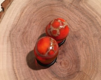 Marbled Orange 00g gauges plugs