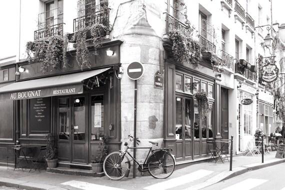 Paris photography au bougnat restaurant horizontal black