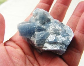 Blue Calcite, crystal, mineral, gemstone,  metaphysical, new age #1